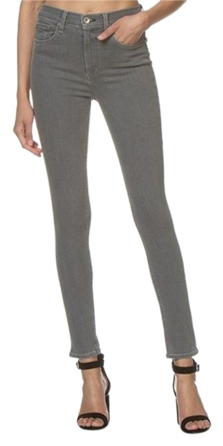 Item - Gray Coated Rin High Rise Skinny Jeans Size 28 (4, S)