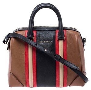 Givenchy Leather Fabric Satchel in Multicolor