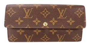 Louis Vuitton Louis Vuitton Monogram M61734 Women's Monogram Long Wallet (bi-fold) Brown