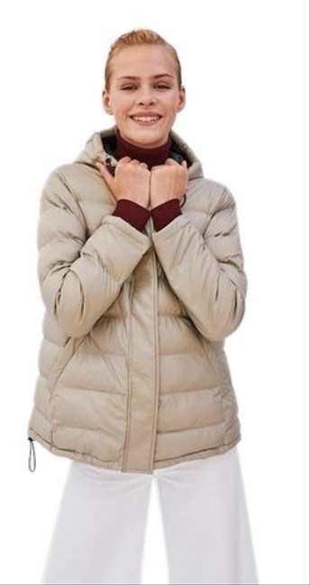 Item - Cream Padded Jacket Coat Size 2 (XS)