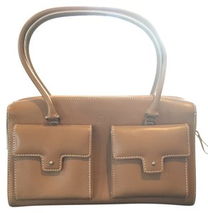 Rafe Leather White Trim Tote in Camel