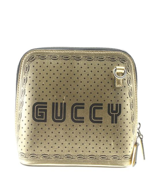 Gucci 511189 Sega Logo Moon Star (180404) Gold Leather Cross Body Bag Gucci 511189 Sega Logo Moon Star (180404) Gold Leather Cross Body Bag Image 1