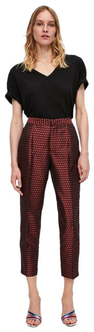 Item - Burgundy W Jacquard W/ Stripes Pants Size 12 (L, 32, 33)