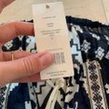 Tory Burch Blue and White Candice Small Navy Double Diamonds Blouse Size 4 (S) Tory Burch Blue and White Candice Small Navy Double Diamonds Blouse Size 4 (S) Image 2