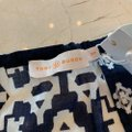 Tory Burch Blue and White Candice Small Navy Double Diamonds Blouse Size 4 (S) Tory Burch Blue and White Candice Small Navy Double Diamonds Blouse Size 4 (S) Image 3