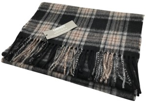 Neiman Marcus Black Men's Plaid Long Cashmere Scarf/Wrap