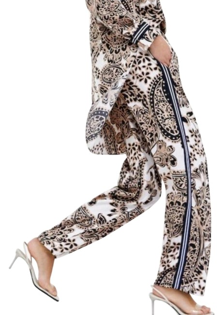 Item - White Beige Printed Paisley Pants Size 8 (M, 29, 30)
