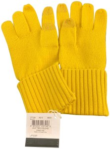 Coach New-with-Tags Coach 77728 Knit Tech Gloves Banana Yellow, Size XS/S