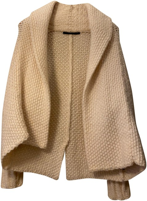 Item - Cream Chunky Knitted Cardigan Size 4 (S)