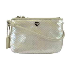 Coach Accessories Sequins Wristlet in Pearl