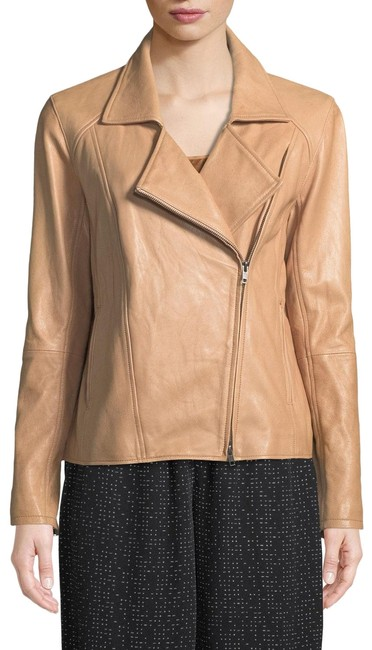 Item - Amber Rumpled Lux Leather Moto Jacket Size 14 (L)