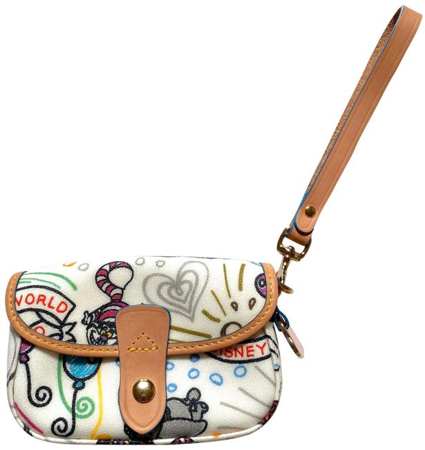 Item - World Buttons Multicolor Coated Canvas and Leather Wristlet