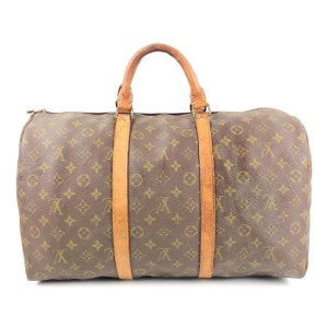 Louis Vuitton Keepall 45 Keepall Duffel Brown Travel Bag