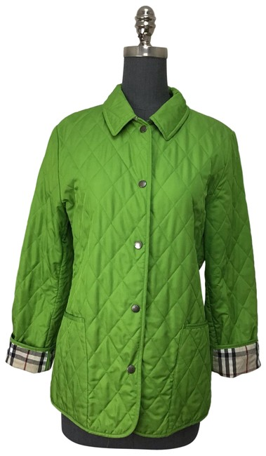 Item - Lime Green Classic Quilted Jacket Size 4 (S)