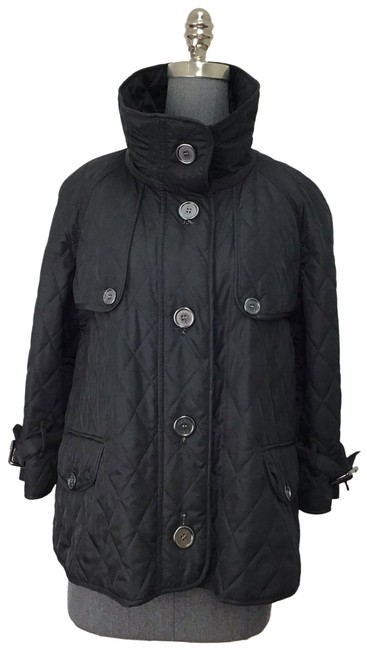 Item - Black Cropped Quilted Jacket Size 10 (M)
