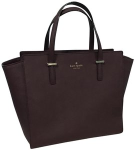 Kate Spade Leather Satchel in Mulled Wine