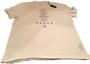 John Varvatos New W/Tags Designer Soft Cotton Message T Shirt White