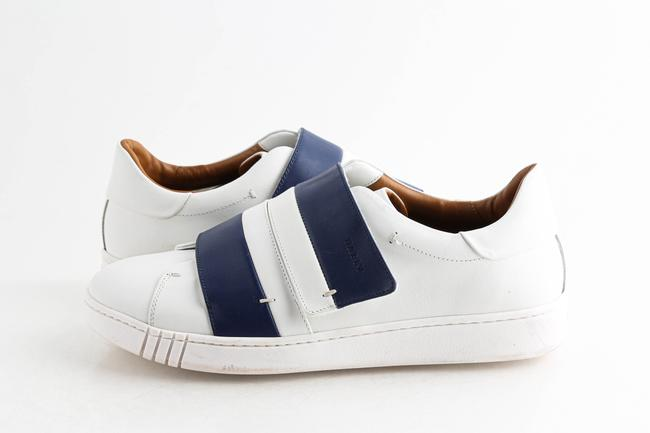 Item - White Willet Leather Grip-strap Sneaker White/Blue Shoes