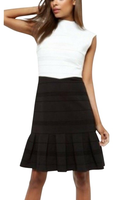 Item - Black & White Demore Flared Skirt Us Short Work/Office Dress Size 6 (S)