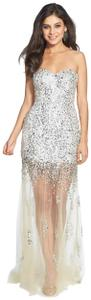 Sean Collection Sequin Bedazzled Party Prom Dress