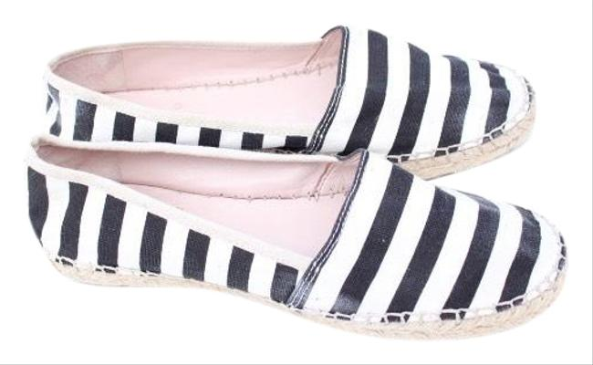 Item - Black & White Johnnie Flats Size US 8.5 Regular (M, B)