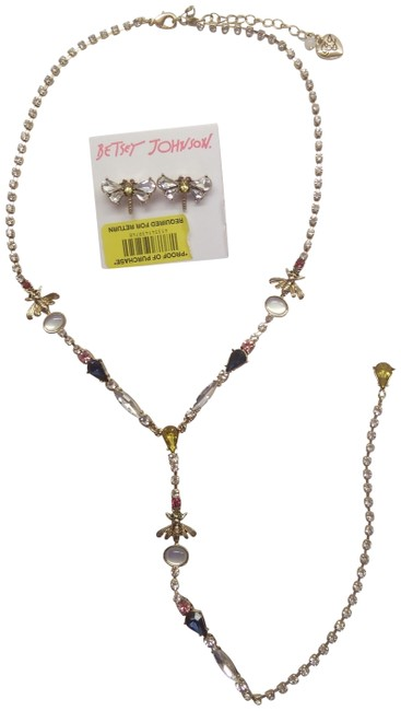 Item - Red New Dragon Fly Necklace and Earrings
