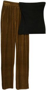 Zara Bundle Outfit Sweats Comfortable Relaxed Pants Gold, Black