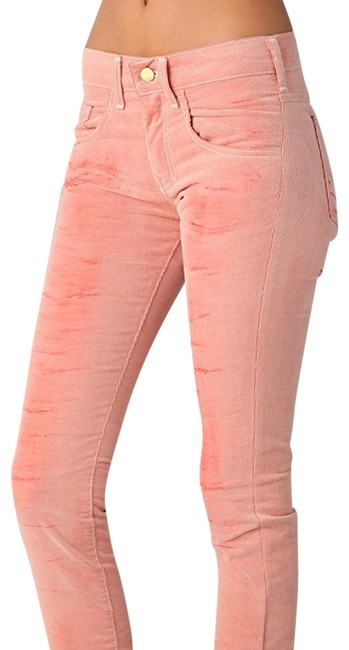 Item - Pink Velours Faded Corduroy Skinny Jeans Size 4 (S, 27)