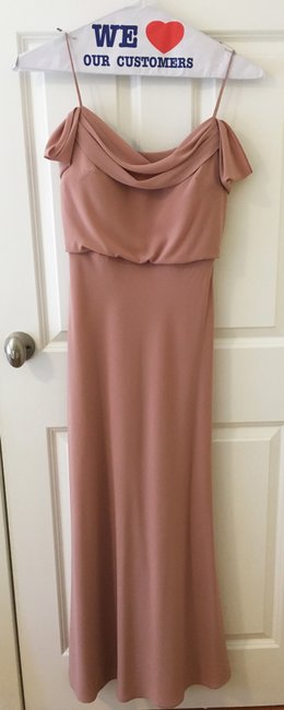 Item - Whipped Apricot Crepe De Chine Sabine Formal Bridesmaid/Mob Dress Size 2 (XS)