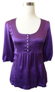 Guess Rhinestone Top purple