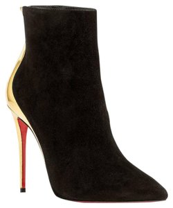 Christian Louboutin BLACK AND GOLD Boots
