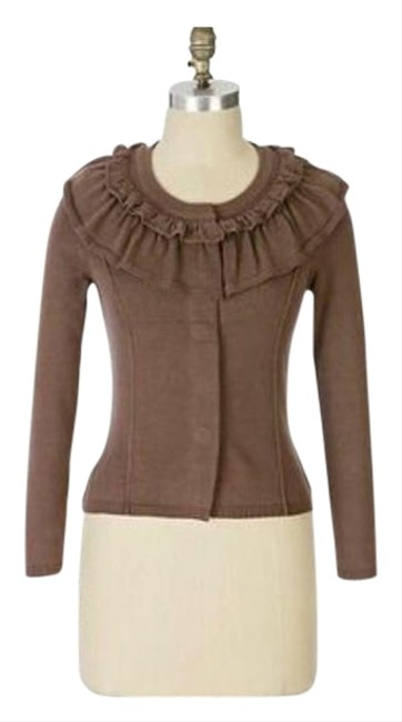 Item - Brown Women's Moth Snap Sweaters Small Cardigan Size 4 (S)
