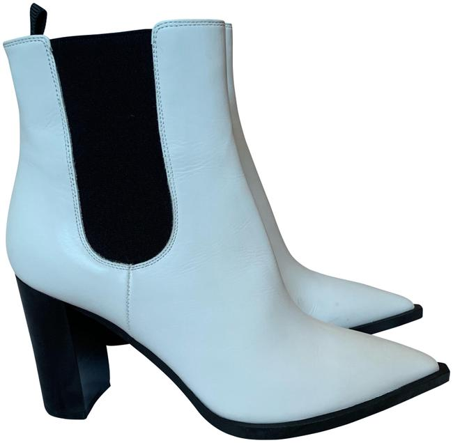 Item - White Leather Boots/Booties Size US 8.5 Regular (M, B)