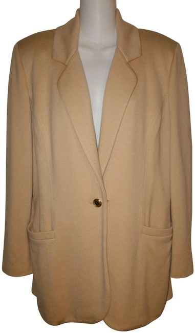 Item - Tan Collection By Marie Gray Knit Blazer Size 6 (S)