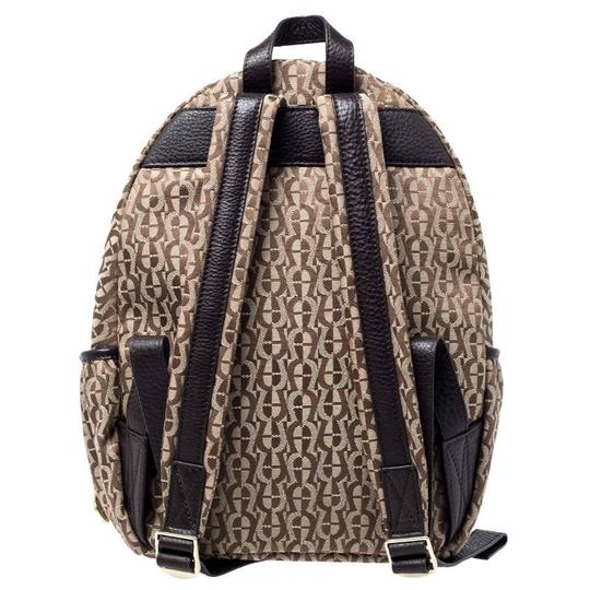 Etienne Aigner Signature Canvas Leather Detail Backpack Image 1