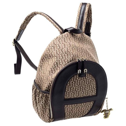 Etienne Aigner Signature Canvas Leather Detail Backpack Image 3