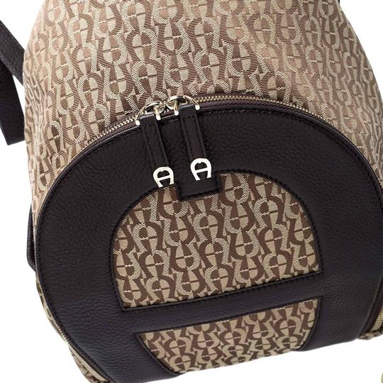 Etienne Aigner Signature Canvas Leather Detail Backpack Image 5