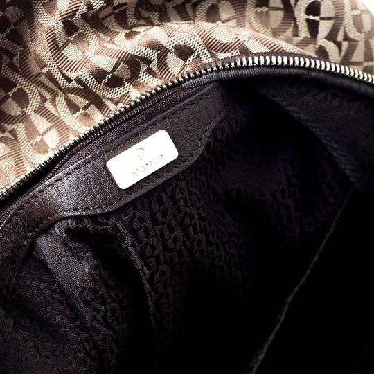 Etienne Aigner Signature Canvas Leather Detail Backpack Image 7