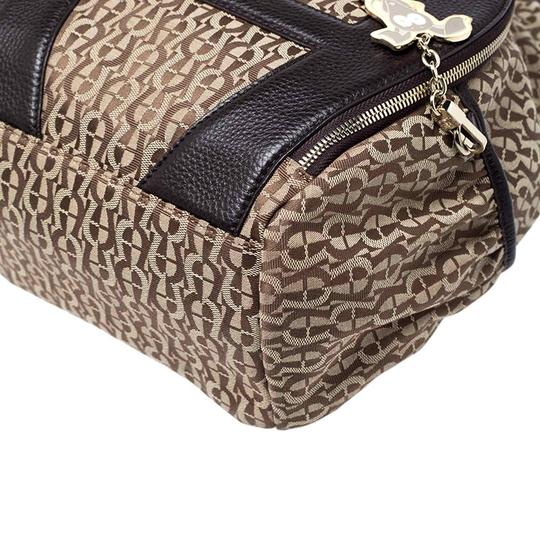Etienne Aigner Signature Canvas Leather Detail Backpack Image 9