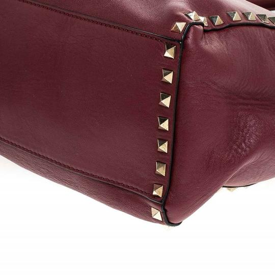 Valentino Leather Rockstud Tote in Red Image 7
