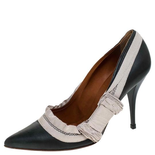 Preload https://img-static.tradesy.com/item/26471464/lanvin-grey-leather-and-beige-canvas-trim-pointed-pumps-size-eu-41-approx-us-11-regular-m-b-0-0-540-540.jpg