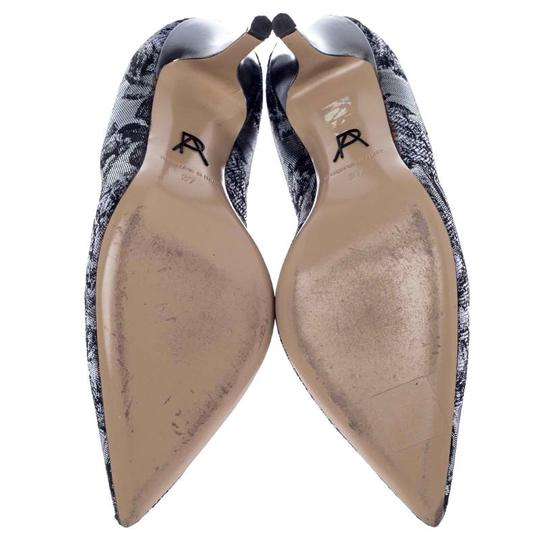 Paul Andrew Metallic Two-tone Pointed Toe Stiletto Leather Silver Pumps Image 4