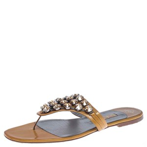 Gina Peters Patent Leather Studded Crystal Yellow Flats