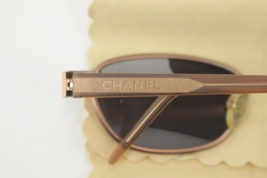 Chanel Rose Gold Brass Sunglasses 8CK1203 Image 9