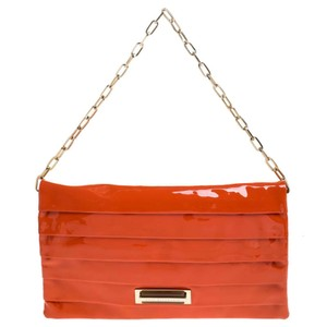 Anya Hindmarch Suede Patent Leather Chain Shoulder Bag