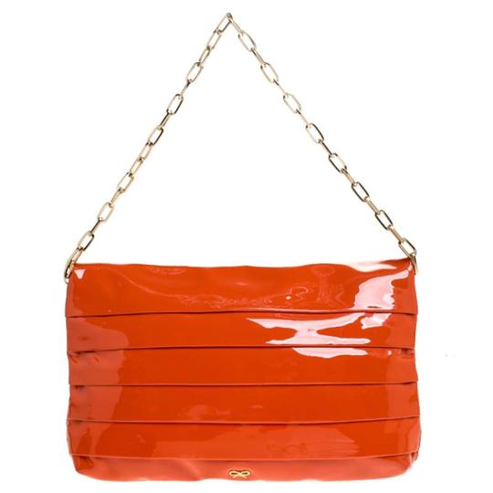 Anya Hindmarch Suede Patent Leather Chain Shoulder Bag Image 1