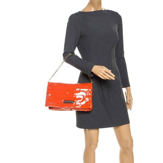 Anya Hindmarch Suede Patent Leather Chain Shoulder Bag Image 2