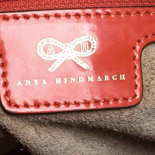 Anya Hindmarch Suede Patent Leather Chain Shoulder Bag Image 7