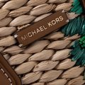 Michael Kors Leather Embroidered Beaded Tote in Brown Image 7
