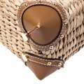 Michael Kors Leather Embroidered Beaded Tote in Brown Image 9